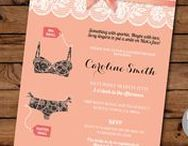 Lingerie Shower Invitations / Unique Lingerie Shower invitations from Wow Wow Meow. Instantly Download your invite, edit and print! It's quick and easy.