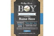 ZAZZLE: Baby Shower Invites / Invite your guests to the party with these adorable Baby Shower Invites. Also available for instant download on Etsy: www.etsy.com/shop/wowwowmeow/