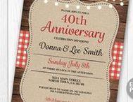 Wedding Anniversary Invites / Celebrating an Anniversary is a special event, invite your guests to your party with an Anniversary dinner, BBQ, garden party etc with these invites from Wow Wow Meow. www.etsy.com/shop/wowwowmeow/