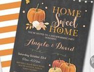 Pumpkin Fall Invites / Instand downloadable and editable invites  www.etsy.com/shop/wowwowmeow