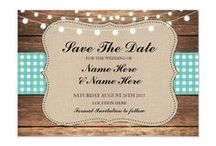 ZAZZLE: Rustic Teal Check Wedding Collection