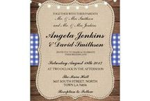 Rustic Blue Check Wedding Collection