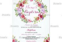 Zazzle: Baptism Invites / Baptism and Christening Invites on Zazzle