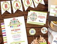 Baby Shower Packages / Baby Shower Packages - Instant Download, fun Baby Shower displays & invites included!