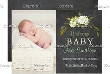ZAZZLE: Baby Photo Announcements