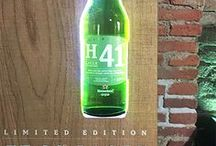 """C28 - Heineken H41° Gloryfier / Sistema espositivo, realizzato per gli eventi di lancio di una nuova linea di prodotti del noto brand olandese. Il concept è incentrato sull'elementarità della forma e l'uso di materiali """"crudi, come l'acciaio corten e il legno grezzo non trattato."""