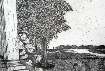 Printmaking / sketches, etchings, and woodcuts / by Jana Sanders