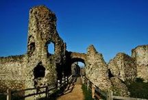 Castle Ruins / I'm collecting images for inspiration for an art project. The pictures are from various social media and other sites. If you are or know the photographer, let  me know so I can add an attribution and backlink . If you're the copyright colder and want me to delete the pin from this board, also let me know.