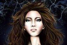 """Storm Dancer"" Illustrations and Fan Art - Dark Epic Fantasy - Rayne Hall"
