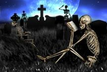 """All Hallows Read / Neil Gaiman says """"Give a scary book for Halloween"""" Here are some funny pictures to illustrate the idea, and of course suggestions for books."""