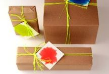 Brown Paper Packages / Gift wrapping with kraft paper. String is great, but there are so many more ideas too!