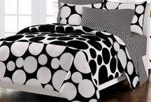 Black & White Bedroom / Elegant black and white bedding sets. / by Kids Room Treasures