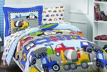 Construction Trucks & Cars Bedroom / Construction trucks, cranes, tractors and transportation every so popular with little boys. / by Kids Room Treasures
