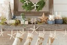 Coastal Christmas Decor / Coastal Christmas decor ideas inspired by sea and beach. www.completely-coastal.com