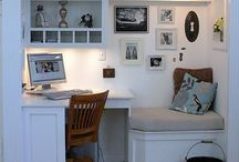 Office in a Closet Ideas / by Lacey Stroda