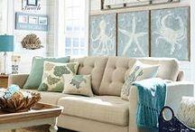 Coastal Living Rooms / Living room inspiration with a coastal, nautical and beach theme.