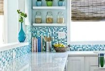 Coastal Kitchens & Dining Rooms / Kitchens and dining rooms with a coastal, nautical and beach theme.