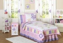 Butterfly Bedding and Bedroom Decor / Butterfly bedding sets, comforters, quilts, pillows and wall decor. / by Kids Room Treasures