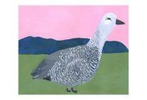 Bird Gala / Original artwork by Elizabeth Graeber, with donations to the National Audubon Society