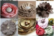 CRAFTS - FABRIC FLOWERS / Handmade flowers made from various types of materials. / by Phyllis Jones