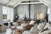 home decor / love scandinavian, white and cozy decor