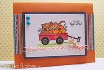 "Wagon of Wishes - Stamp Set / Cards and paper crafts made with the photopolymer Stamp set ""Wagon of Wishes"" designed by Newton's Nook Designs! www.newtonsnookdesigns.com"