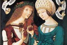 Housebookdress ca 1480-1500 / An inspirational board for the housebook dress project