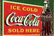 Coca Cola / Mooie Retro afbeeldingen van Coca Cola metalen borden