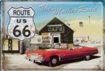 Route 66 / Prachtige Route 66 metalen borden