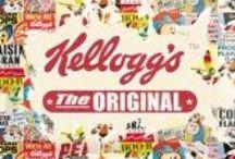 Kellogg's Cornflakes / Prachtige metalen borden van het merk Kellogg's