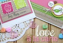 "Love à la Carte - Food & Love Stamp Set / Foodie Puns! Cards and papercrafts made with the photopolymer Stamp set ""Love à la Carte"" designed by Newton's Nook Designs! Perfect for Valentines, Baby, Love and More!"