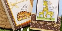 Wild Child - Zoo Baby Stamp Set / This 4x6 photopolymer Stamp Set is great for baby cards and just to say I'm wild about you!  Designed by Newton's Nook Designs! Visit us at www.newtonsnookdesigns.com