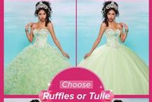 Quinceanera Sister Gowns Collection / One gown makes two designs.  Pick your skirt: Ruffle or Tulle style. / by Mary's Bridal