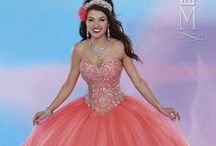 Quinceanera Coral/Orange / by Mary's Bridal