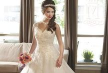 Princess Style Wedding Gown / We have dresses with extra long train and puffy skirt for your fairy tale wedding theme!  / by Mary's Bridal