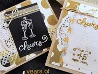 Years of Cheers Stamp Set / This versatile little stamp set is perfect to create cards for anniversaries and celebrations! The fun hand-drawn numbers allow you to customize your greeting.