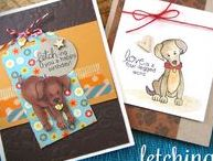 Fetching Friendship - Dogs Stamp Set / This adorable Labrador themed 4 x 6 set will have dog-lovers drooling! These sweet labs are ready to help you send out birthday greetings and more!