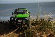 Axial Scx10 Hilux / Our hot Axial Scx10 Hilux in a mean green :) / by Remote Addicted