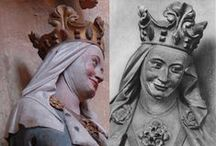 Medieval head & hair