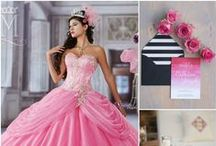 Quinceanera Pink Color Ideas / by Mary's Bridal