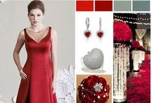 Red Wedding Colors / by Mary's Bridal
