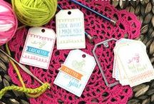 Tag Sampler - Tags & Sentiments Stamp Set / This fun new 4x6 Tag set is perfect for all sorts of handmade gifts. Create custom tags or cards to coordinate with gifts that have been knitted, crocheted, stitched and sewn!