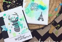 Adventure Awaits - Stamp Set / Let's go on an adventure with this fun 4 x 6 stamp set! Filled with tons of sweet little arrows and beautiful hand-drawn sentiments, this set will be perfect for sending inspirational greetings!