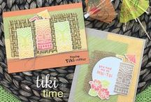 Tiki Time - Bold Stamp Set / Let's head out to the Tiki Bar! This cute little 4 x 4 stamp set features a duo of tropical Tiki faces that are perfect for making fun summer cards!