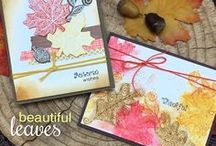 Beautiful Leaves - Autumn Stamp Set / Fall in love with this beautiful 4 x 6 leaf stamp set! Inspired by paper quilling, these leaves are filled with gorgeous swirls and will make beautiful cards quickly!