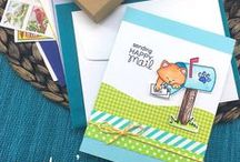 Newton's Happy Mail - Stamp Set / Send Happy Mail with this adorable 3x4 stamp set!
