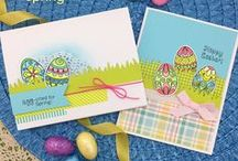 Beautiful Spring Stamp Set - Quilling style Easter Eggs and Tulips / This gorgeous 4 x 6 stamp set is perfect for spring and easter too!