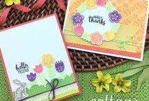 Cottage Garden - Folk Art Spring Stamp Set / Spring Folk Art Stamp set by Newton's Nook Designs