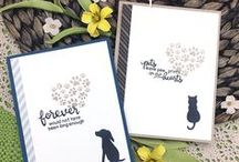 Furr-ever Friends - Pet Sympathy Stamp Set / The dog and cat silhouettes and sweet sentiments will be perfect for creating cards that will let them know you understand their loss and how much they cared for their furry friend!