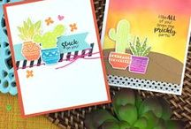 Cultivated Cacti - Bold Cactus Stamp Set / Look sharp with this stylish cactus stamp set! This set includes 4 pretty patterned pots and 5 cactus plants that you can mix and match to create fun and colorful greetings!
